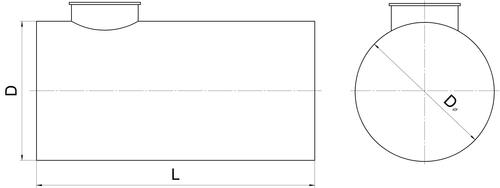 размеры полипропиленовых резервуаров