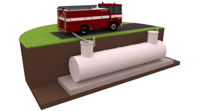 пожарные резервуары