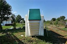 монтаж погреба с боковым входом под углом 45 градусов
